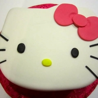 Hello Kitty Chocolate cake with a chocolate Baileys filling. Cake was for a surprise birthday party.