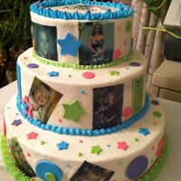 8Th Grade Graduation Yellow pound cake with buttercream frosting, fondant accents. Edible image photo's.