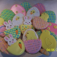 Easter Cookies Easter Cookies. Eggs, chicks, bunnies sugar cookies with color flow.