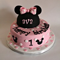 Minnie Mouse Cake For Ava cute modern Minnie Mouse Cake