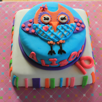 What A Hoot!   Made to match the party decor. This guy (girl?) is sooo stinking cute! I loved doing this one!