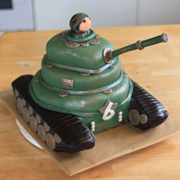 Tank Two 2nd tank cake I have done. I love the lusterdust to make it look metal.