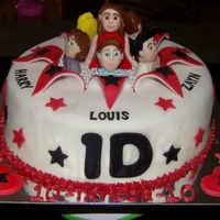 One Direction Exploding Cake With Band Members And Fan