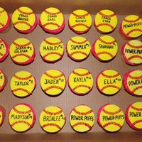 Personalized Softball Cupcakes PERSONALIZED SOFTBALL CUPCAKES