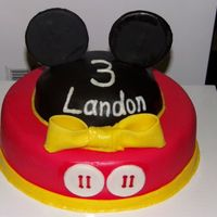 Mickey Mouse Head And Ears With Shorts On Bottom Tier
