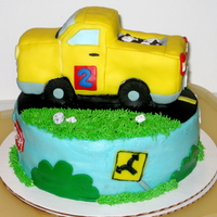 Yellow Truck Cake For a little boy who loves yellow and trucks