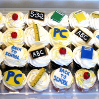 Back To School Cupcakes Back to School cupcakes for a faculty meeting