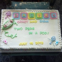 Cakes Twins baby shower cake!