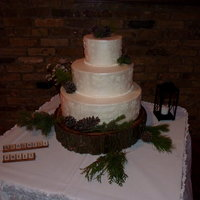 "Rustic Winter Wedding 14 Wasc With Red Raspberry Filling 10 Red Velvet With Buttercream Filling 6 Wasc With Red Confetti With Buttercream Rustic Winter Wedding14"" WASC with red raspberry filling10"" Red Velvet with buttercream filling6"" WASC with red confetti..."