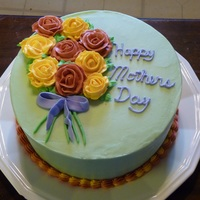 Mothers Day 2011 All butter peppermint bc with bc flowers on dark chocolate cake. I didn't get a piece, but was told it was delicious.