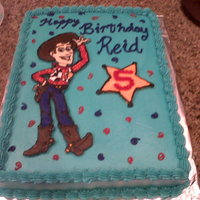 Woody From Toy Story Buttercream iced with FBCT Woody