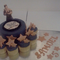 Wrestling Cake And Cupcakes John Sena wrestling cake and cupcakes lemon, mint buttercream cake with fondant figures