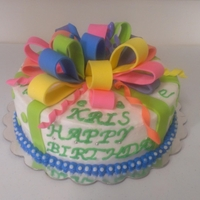 Birthday Gift buttercream and more buttercream and fondant