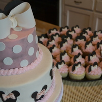 1St Birthday Minnie Cake And Cuppies