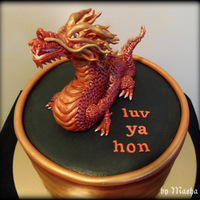 Red Dragon Cake   red dragon cake