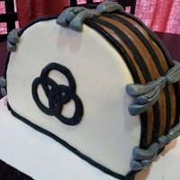 Led Zeppelin Drum Cake