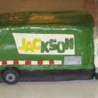Garbage Truck Birthday Cake Garbage truck birthday cake