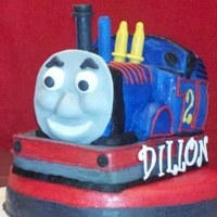 Thomas The Train Birthday Cake Face Made From Fondant Thomas the train birthday cake. Face made from fondant