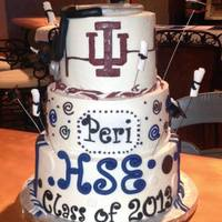 High School Graduation Cake High School Graduation cake for girl studying nursing at IU in the fall