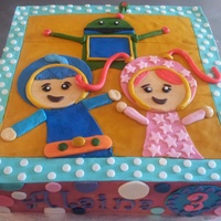 Umizoomi Cake And Smash Cake Characters Made From Modeling Chocolate Umizoomi cake and smash cake. Characters made from modeling chocolate