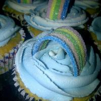 Rainbow Cloud Cupcakes