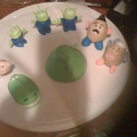 Fondant Figures For Toy Story Cake Fondant figures for Toy Story cake. My first fondant 3d figures!