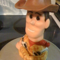Toy Story's Woody fondant/gumpaste 3d figure of Woody from Toy Story characters.