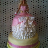 "Barbie Princess Cake I have to thank the ""mackandnorm"" channel on YouTube for my inspiration for this Barbie Princess Cake. It was a strawberry..."