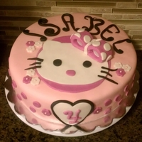 Hello Kitty Banana cream filled cake with hello kitty pinkness. mmf made with strawberry flavored marshmellows.