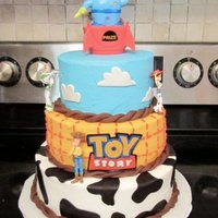 Toy Story This is not my original idea. I was inspired to do this cake by multiple other CC posts. Buttercream icing with fondant accents. I used my...