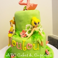 Tinkerbell Cake All fondant decorations