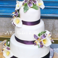 My Wedding Cake Handmade fondant flowers that matched with the brides bouquet.