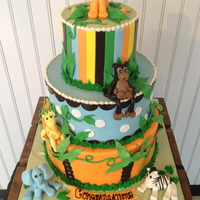 Safari Baby Shower Cake Safari baby shower cake