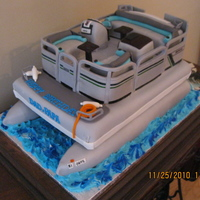 Pontoon Birthday Cake
