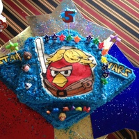 Star Wars Angry Birds All buttercream icing with buttercream transfer