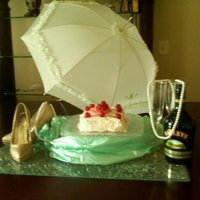 Tres Leche Under The Umbrella tres leche cake with crush pineapples and cherries on top wiht whip cream frosting