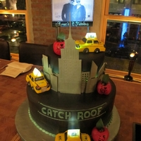 Amare & Fab Birthday Cake   Nyc skyline, billboard, and yellow cabs with LED lights