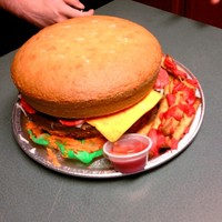 Hamburger Cake made for friend's son for his birthday