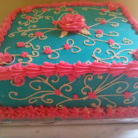 I Made This Cake For My Birthday December 2014 And It Was Actually My First Time Of Making Free Hand Scroll Without Patter Press I made this cake for my birthday December 2014 and it was actually my first time of making free hand scroll without patter press.
