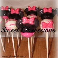 Pink Minnie Mouse Theme Cake Pops