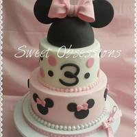Minnie Mouse Cake Buttercream With Fondant Accents Hat Is Styrofoam Covered In Fondant With Fondant Ears And Bow Tfl *Minnie Mouse Cake, buttercream with fondant accents. Hat is styrofoam covered in fondant with fondant ears and bow. TFL!