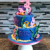 Under The Sea Cake MMF cake made with mmf & gum paste decorations