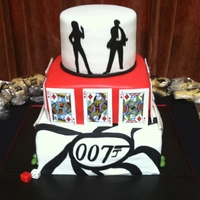 Poker/james Bond Themed Cake
