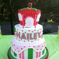 Strawberry Shortcake Birthday Cake Buttercream cakes with buttercream & mmf decorations