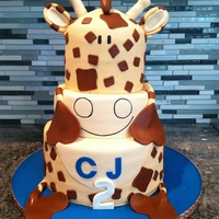 Giraffe Cake This cake was inspired by the little boy's favorite giraffe stuffed animal, Dudley. All mmf