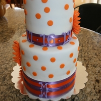 "Whimsical Wedding Shower The colors of the wedding are orange and purple. The bride is my niece and when I think of her I think of things more whimsical and ""..."