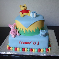 Winnie The Pooh Cake This cake was for my godson's first birthday