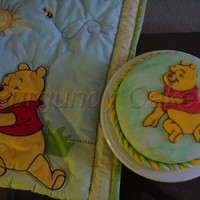 Winnie The Pooh Cake I made this for my godson when he was 6 months old