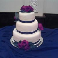 Black And White Cake White cake with bavarian cream filling covered with fondant.