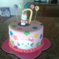 Hello Kitty Birthday Cake This is a cake that was done for one of my fellow military wive's daughters. It is not my original design, however, I do not know who...